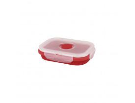 Pote Retrátil de Silicone 375ml Mor 13x9,5x6,5cm Vermelho 8544