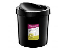 Lixeira Basculante 4,3 litros Preta 18X18X20cm Primafer