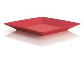 Prato Quadrado Ou Martiplast 22,5x22,5x3cm Vermelho PQ3840