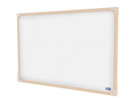 Quadro Branco 90x60cm Moldura de Madeira Tilibra