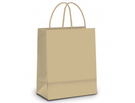 Sacola de Papel para Presente Kraft M 9X19X26cm Cromus Embalagens
