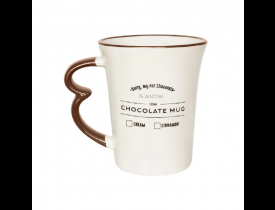 Caneca Easy 330ml Chocolate Mug Oxford 9x9x10,5cm