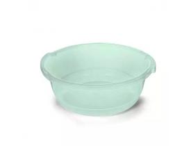 Bacia Redonda 11 litros Verde Transparente Plasvale
