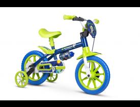 Bicicleta Infantil Space Nathor Aro 12 Verde e Azul