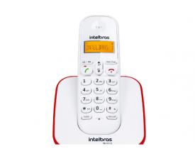 Telefone sem Fio TS3110 Branco e Vermelho Intelbras