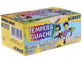 Tempera Guache Acrilex 6 Cores