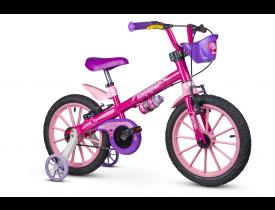 Bicicleta Infantil Top Girls Nathor Aro 16 Rosa