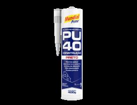 Selante de Poliuretano PU40 Preto 400g Mundial Prime