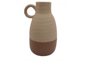 Vaso Decorativo de Cerâmica Bege Terracota D&A