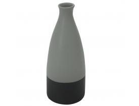 Vaso Decorativo de Cerâmica Preto e Cinza D&A