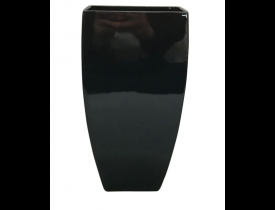 Vaso Decorativo de Vidro Preto D&A