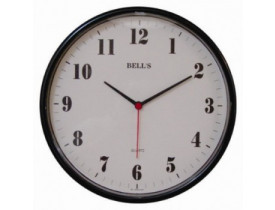 Relógio de Parede Redondo Preto Bells