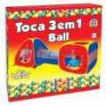 Toca 3 em 1 Ball com 80 Bolinhas Braskit 4600