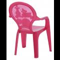 Cadeira Infantil Catty Rosa Tramontina 37,5x35x55cm
